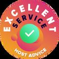 """Ne-am permis să verificăm în mod personal și anonim fiecare serviciu de clienți al fiecărei companii. """"Insigna de excelență"""" a fost acodată companiilor de hosting care s-au pliat pe standardele înalte ale serviciului clienți HostAdvice, semnificând că serviciul s-a dovedit a fi prompt, eficient și cel mai important, util."""