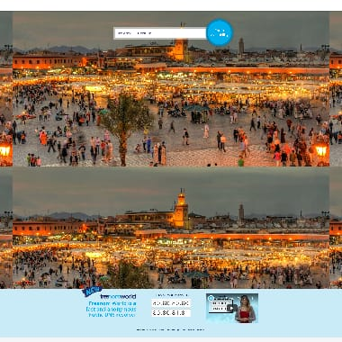 Freenom HomePage Screenshot