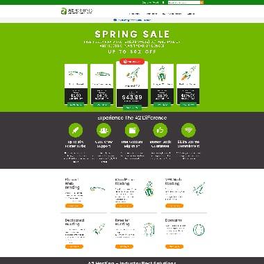 A2 Hosting HomePage Screenshot